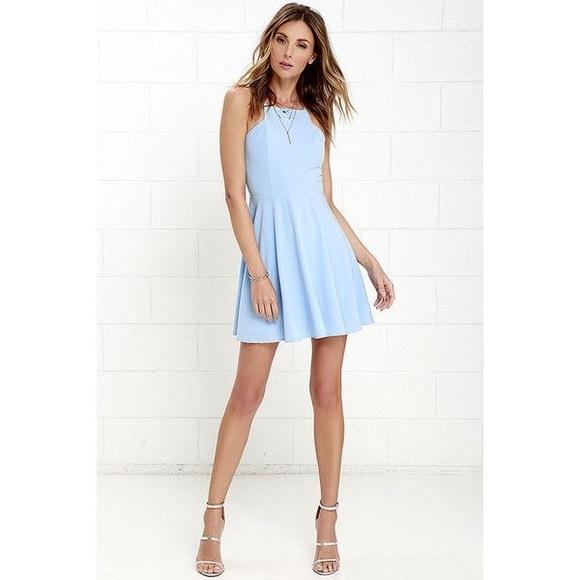 74fcaf39b0 Lulu s Dresses   Skirts - Lulus call to charms light blue dress